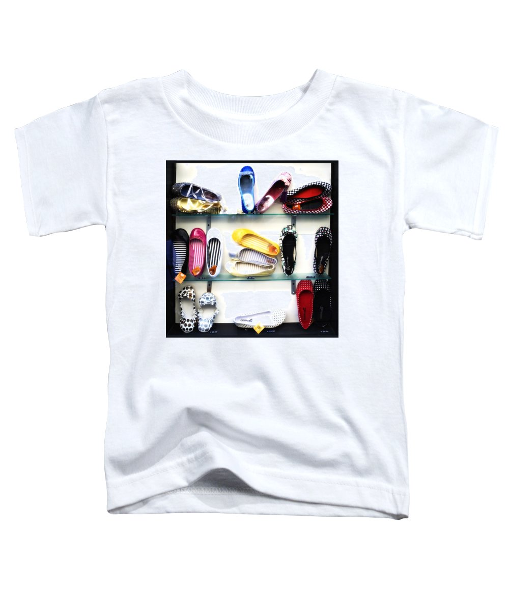 Shoes Toddler T-Shirt featuring the photograph So Many Shoes... by Marilyn Hunt