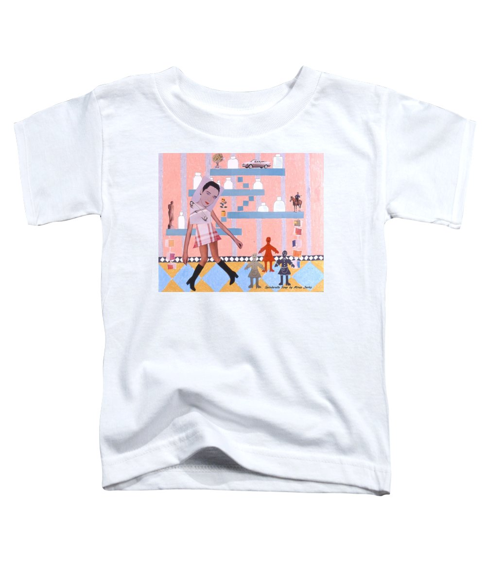 Cowboy Toddler T-Shirt featuring the drawing Soap Scene #16 Miracle Maids by Minaz Jantz