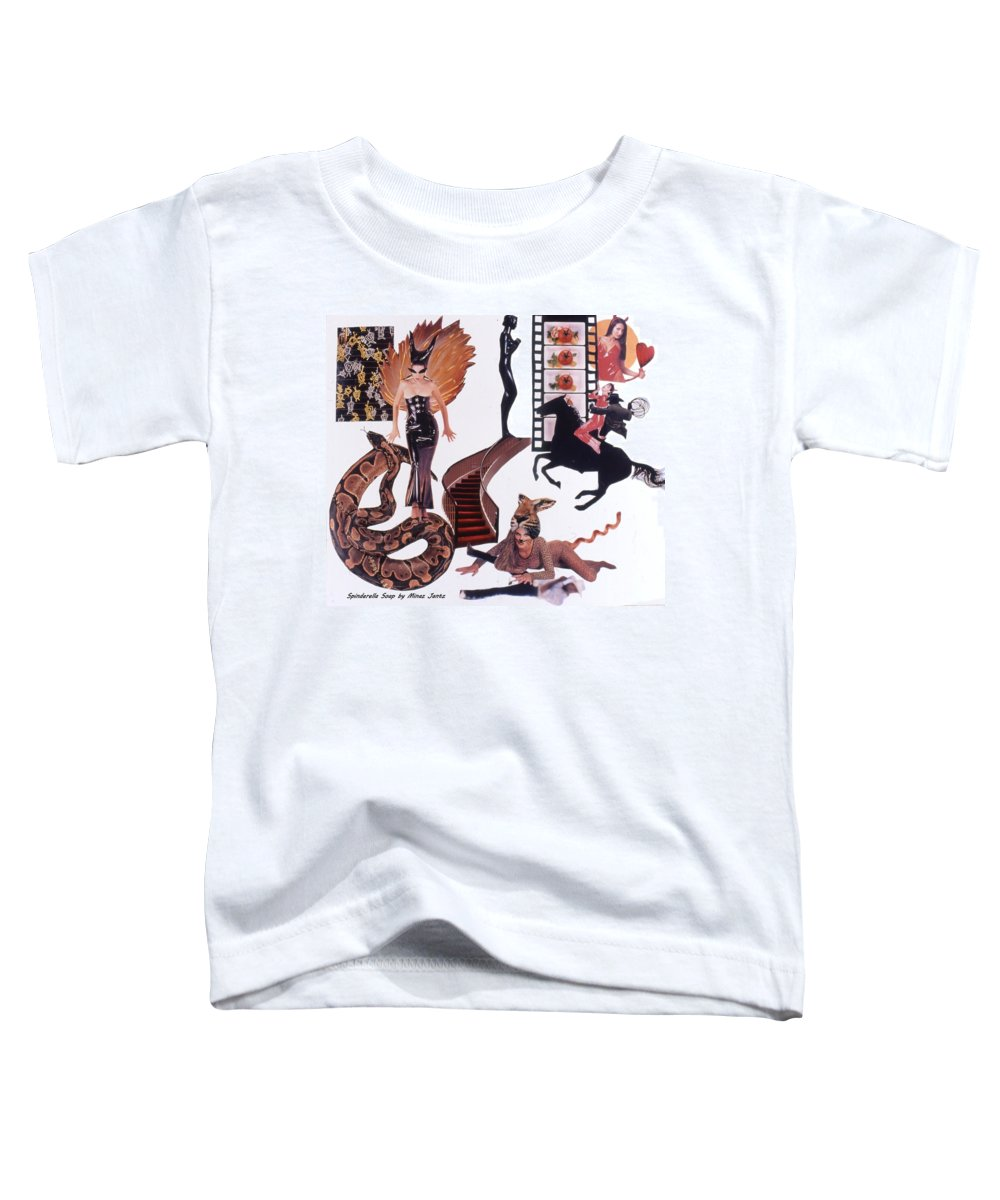 Boa Toddler T-Shirt featuring the drawing Soap Scene #22 Lust In The Wind by Minaz Jantz