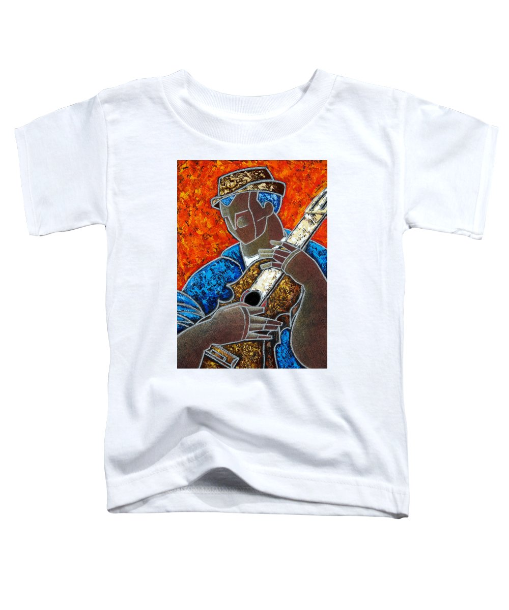 Puerto Rico Toddler T-Shirt featuring the painting Solo De Cuatro by Oscar Ortiz