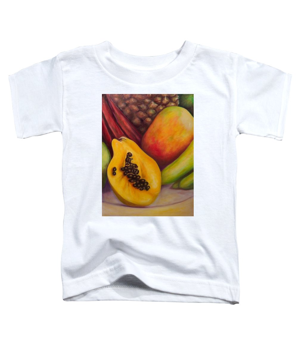 Tropical Fruit Still Life: Mangoes Toddler T-Shirt featuring the painting Solo by Shannon Grissom