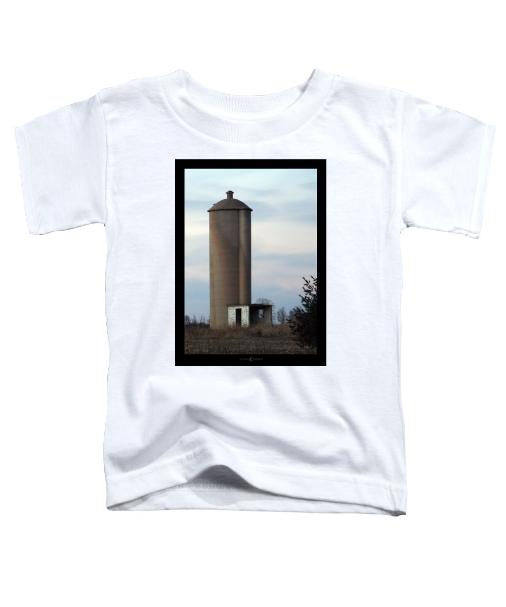 Silo Toddler T-Shirt featuring the photograph Solo Silo by Tim Nyberg