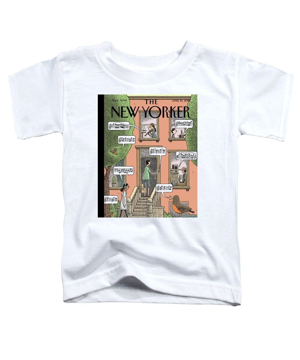 Soundtrack To Spring Toddler T-Shirt featuring the drawing Soundtrack To Spring by Tom Gauld