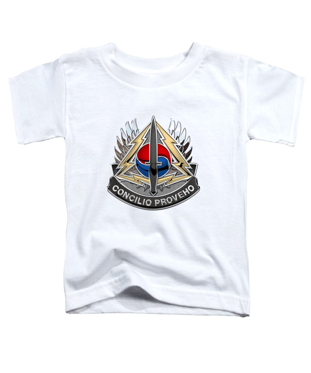 0807d5a4 Special Operations Command Korea - S O C K O R Distinctive Unit Insignia  Over White Leather Toddler T-Shirt for Sale by Serge Averbukh