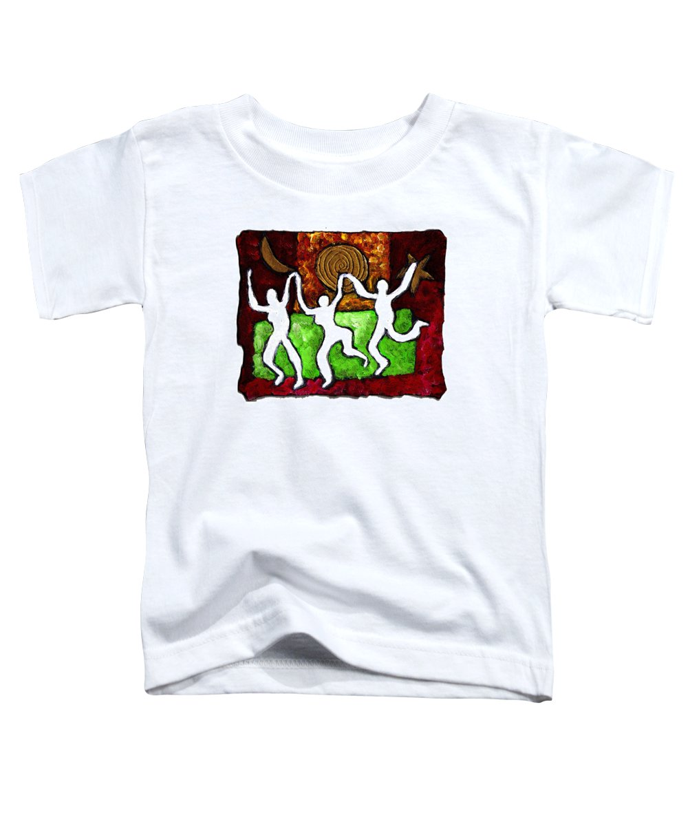 Dance Toddler T-Shirt featuring the painting Spirits Of The Dance by Wayne Potrafka