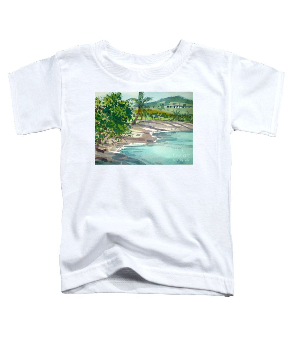 St. Croix Toddler T-Shirt featuring the painting St. Croix Beach by Donald Maier