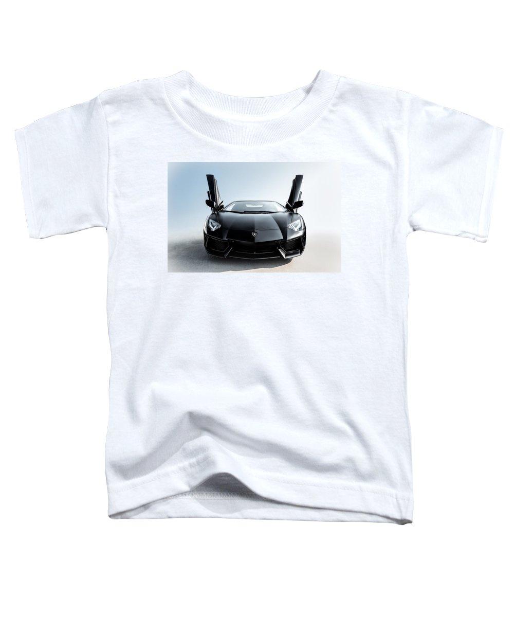 Lamborghini Toddler T-Shirt featuring the photograph Stick 'em Up by Douglas Pittman