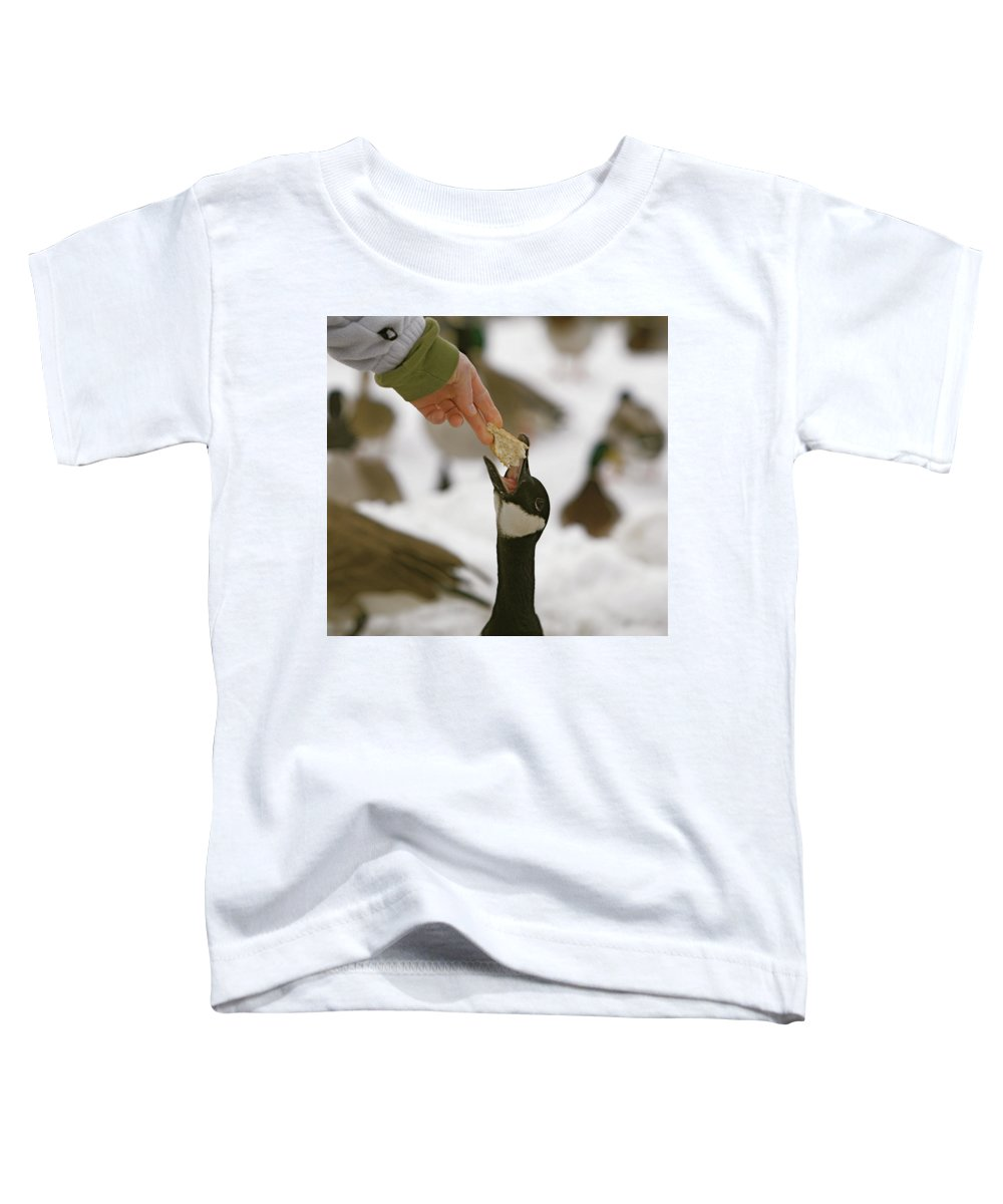 Birds Toddler T-Shirt featuring the photograph Sticking My Neck Out by Robert Pearson