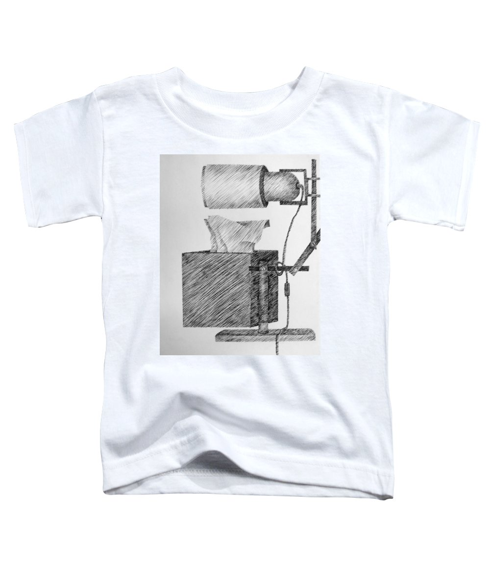 Still Life Toddler T-Shirt featuring the drawing Still Life With Lamp And Tissues by Michelle Calkins