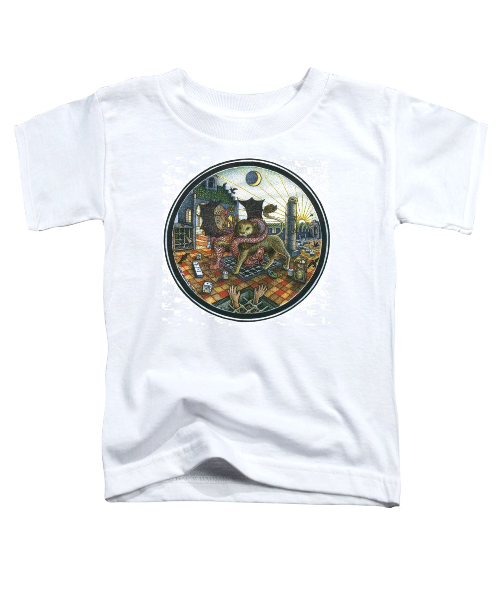 Dragon Toddler T-Shirt featuring the drawing Strange Reverie by Bill Perkins