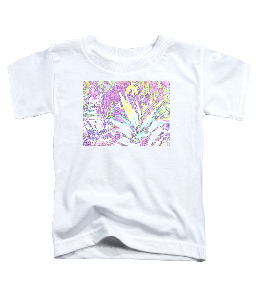 Abstract Toddler T-Shirt featuring the photograph Subtle Leaf by Ian MacDonald