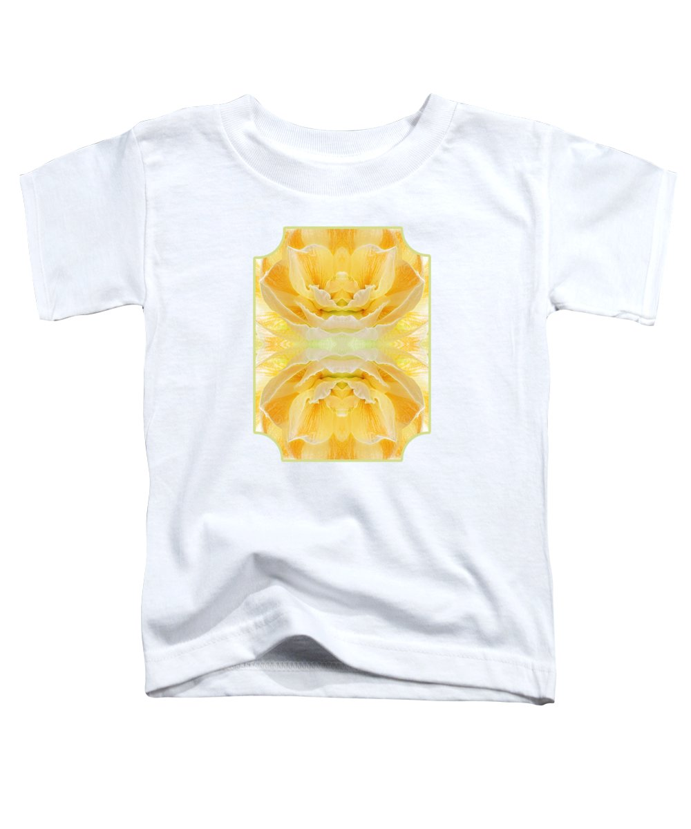 Yellow Amaryllis Toddler T-Shirt featuring the photograph Sunshine Mosaic - Vertical by Gill Billington