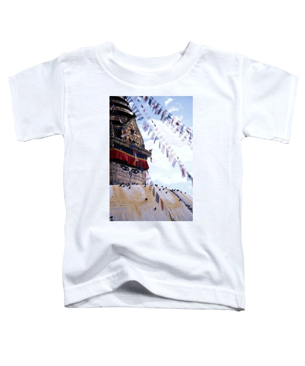 Swayambhunath Stupa Toddler T-Shirt featuring the photograph Swayambhunath II by Patrick Klauss