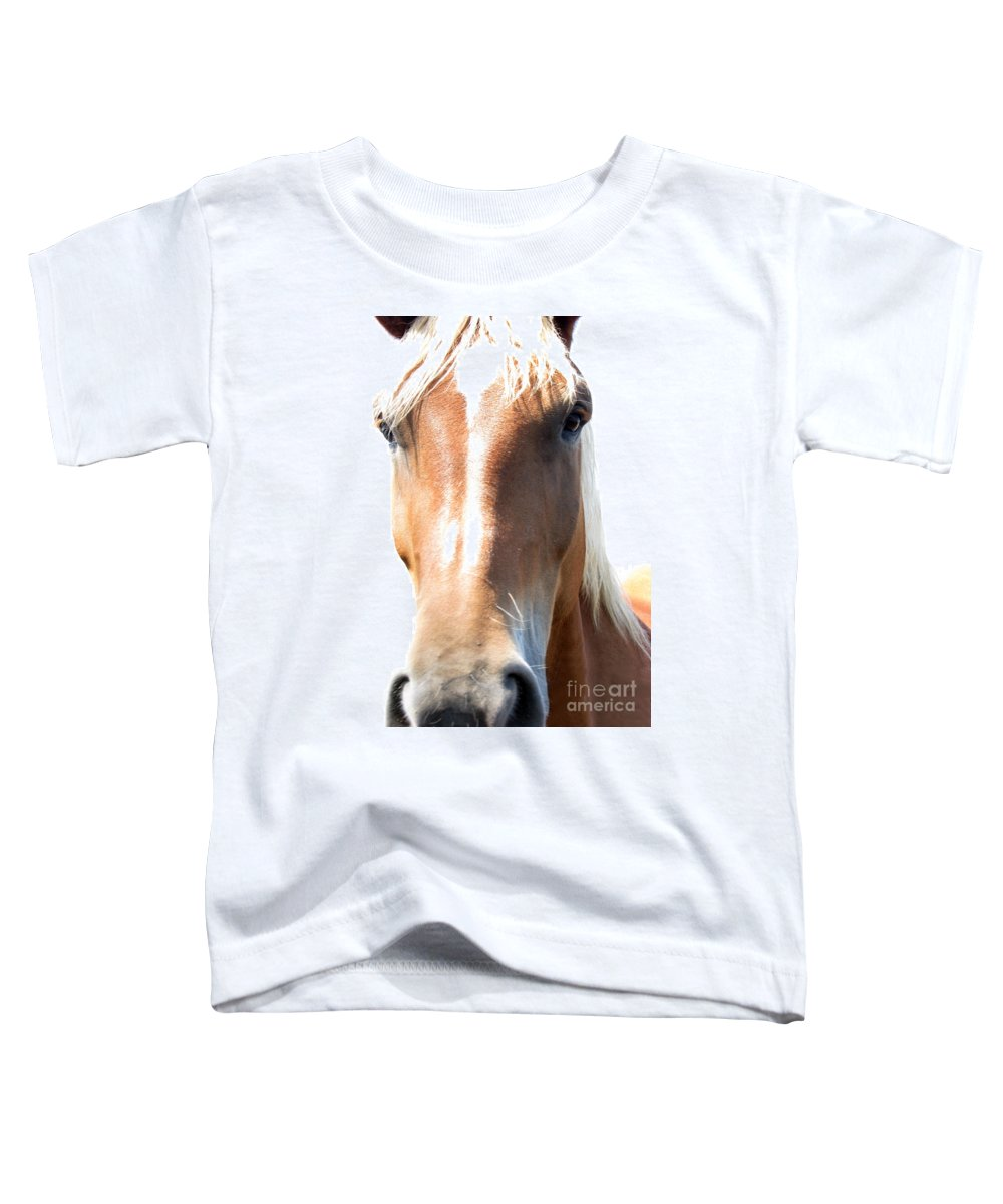 Horse Toddler T-Shirt featuring the photograph Sweetie by Amanda Barcon