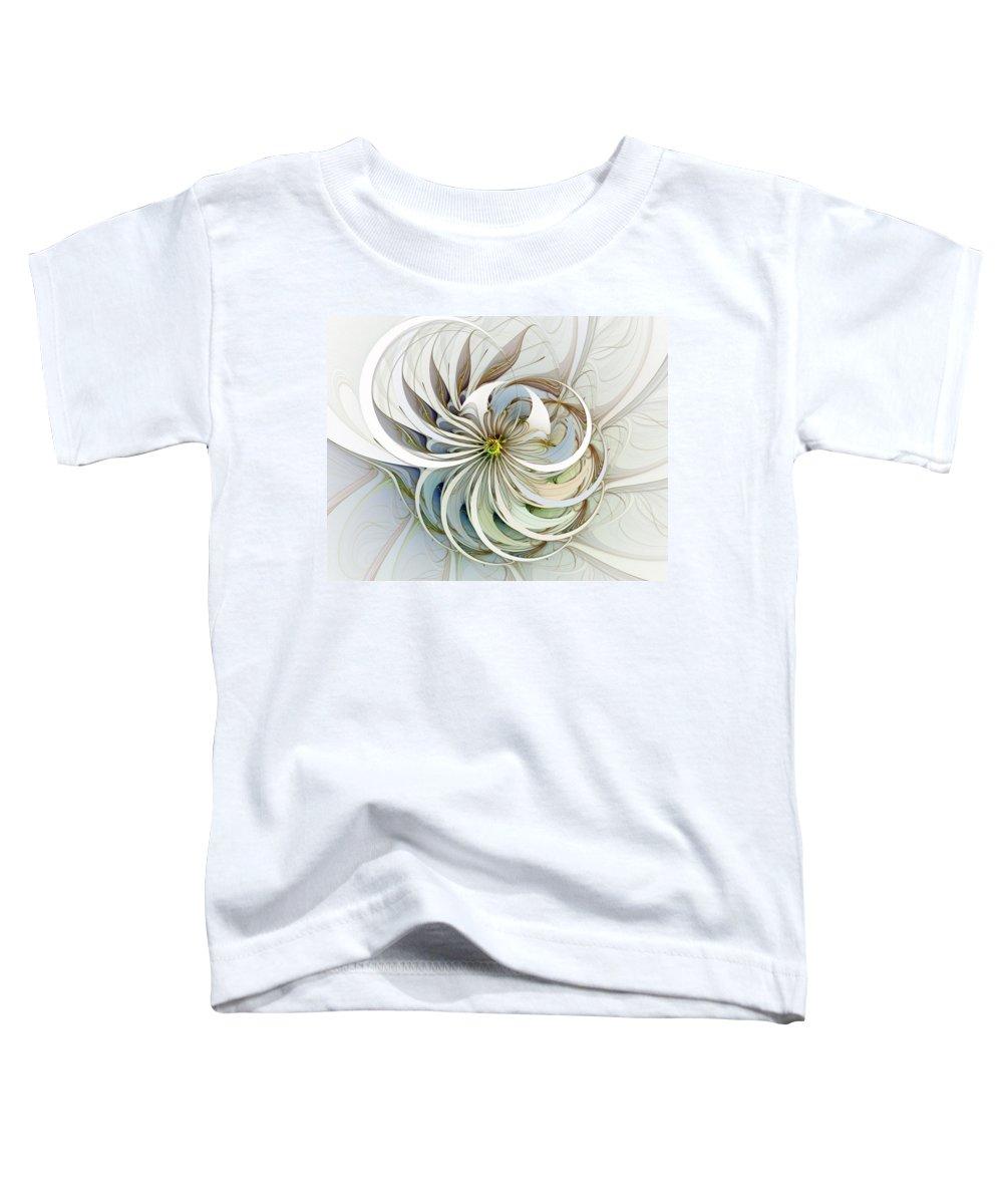 Digital Art Toddler T-Shirt featuring the digital art Swirling Petals by Amanda Moore