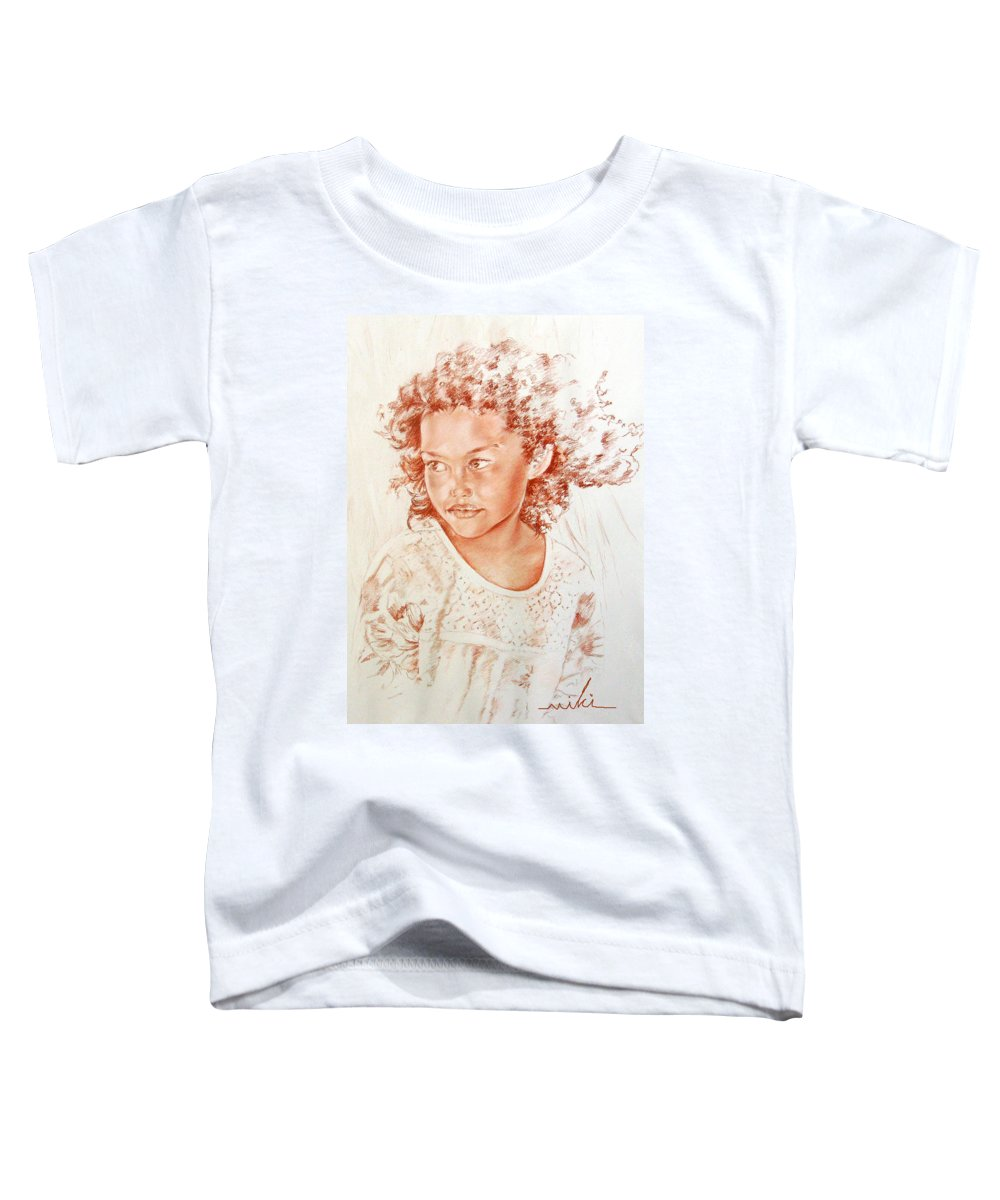 Drawing Persons Toddler T-Shirt featuring the painting Tahitian Girl by Miki De Goodaboom