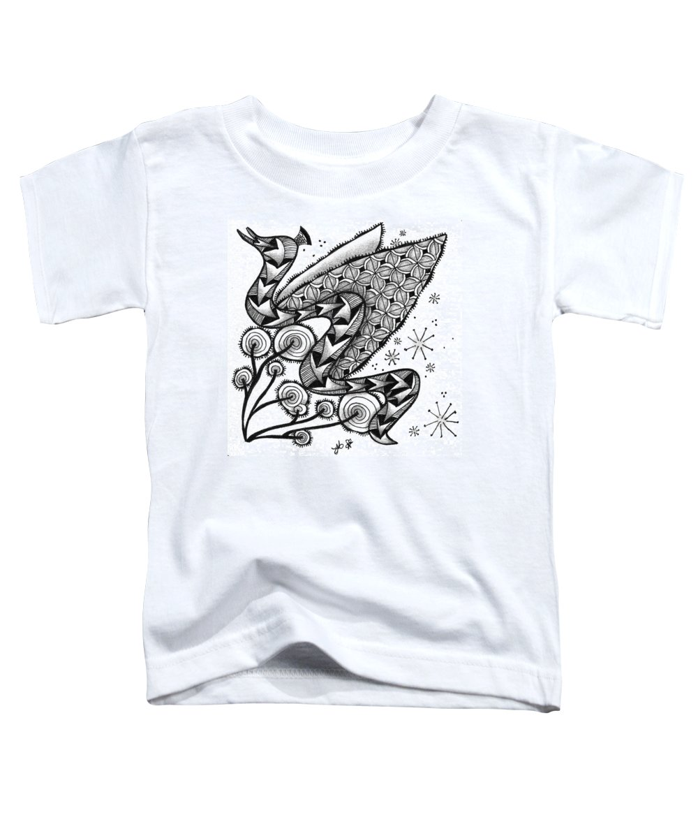 Serpent Toddler T-Shirt featuring the drawing Tangled Serpent by Jan Steinle