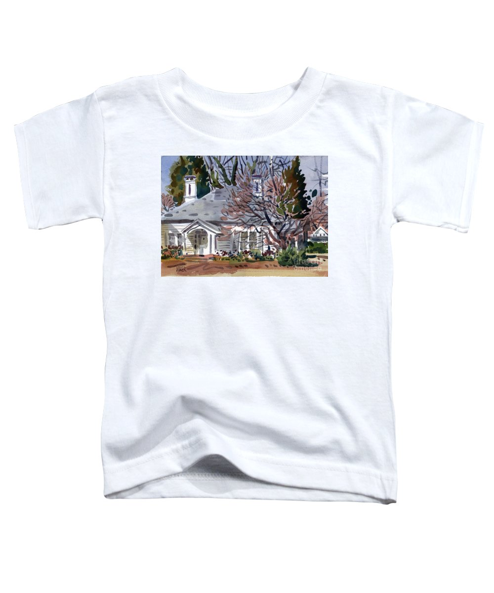 Tapp House Toddler T-Shirt featuring the painting Tapp House by Donald Maier