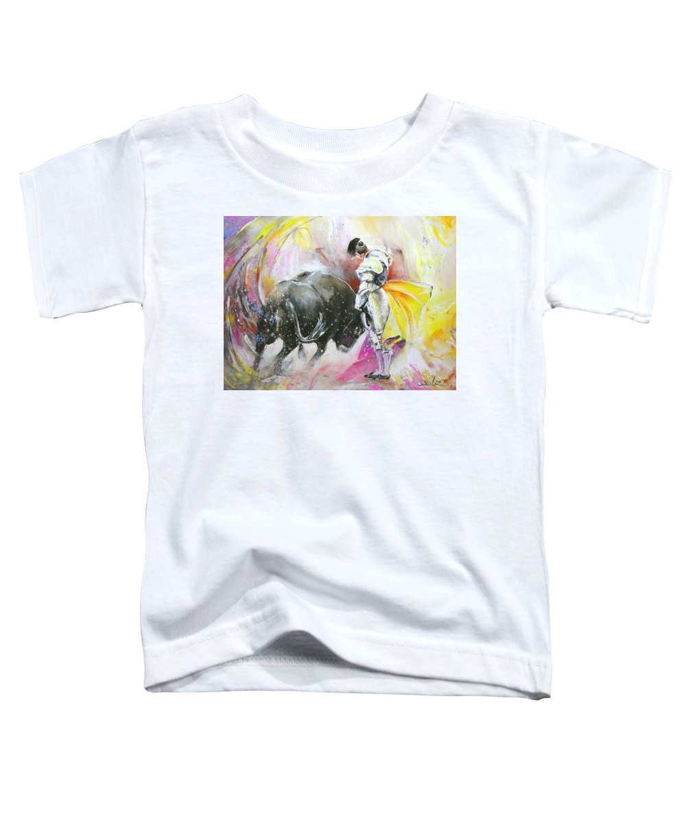Animals Toddler T-Shirt featuring the painting Taurean Power by Miki De Goodaboom