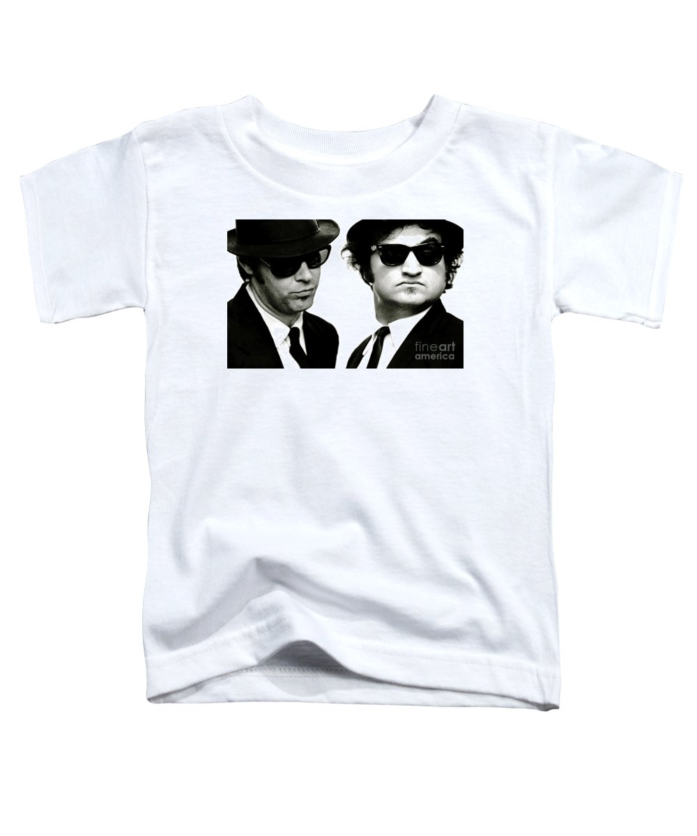 The Blues Brothers Toddler T-Shirt featuring the mixed media The Blues Brothers, John Belushi and Dan Aykroyd by Thomas Pollart