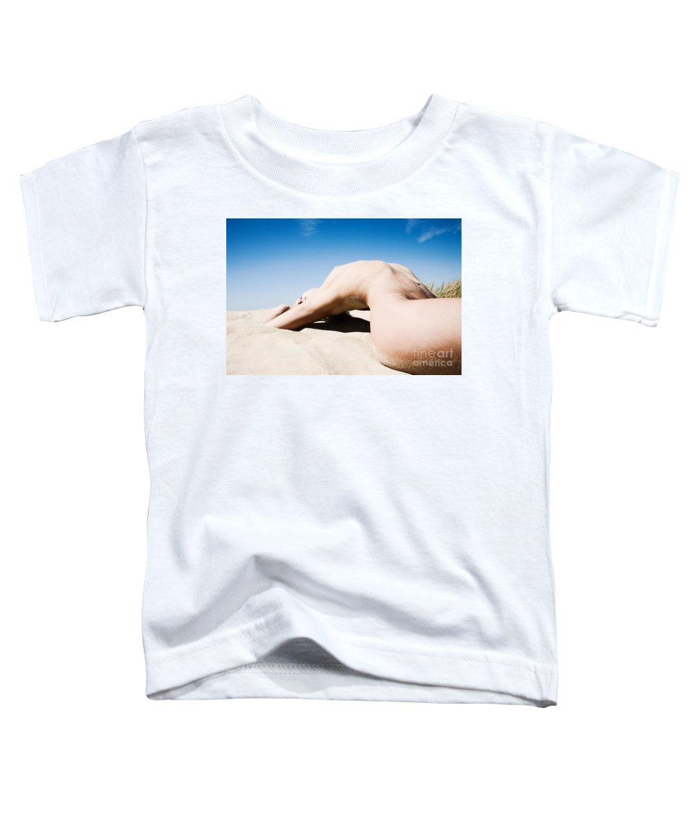 Sensual Toddler T-Shirt featuring the photograph The Bridge by Olivier De Rycke