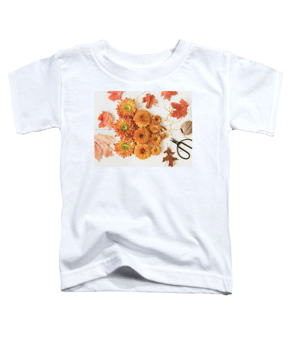 Flower Toddler T-Shirt featuring the photograph The Colors Of Autumn by Kim Hojnacki