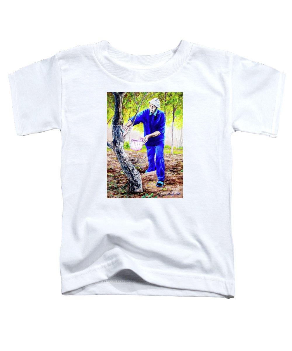 Daddy Toddler T-Shirt featuring the painting The Cure - La Cura by Rezzan Erguvan-Onal