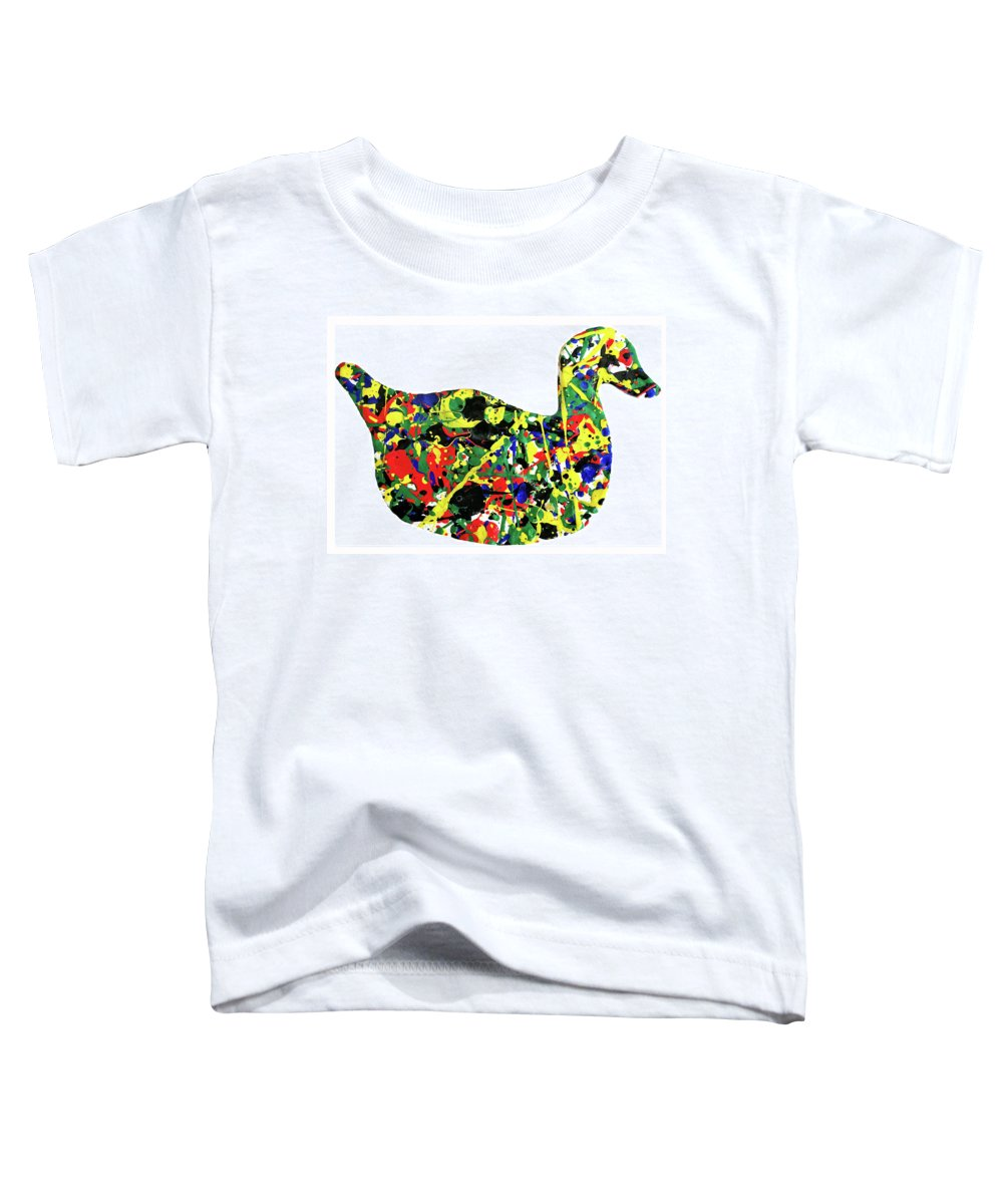 Abstract Toddler T-Shirt featuring the painting The Duck by Ducksy
