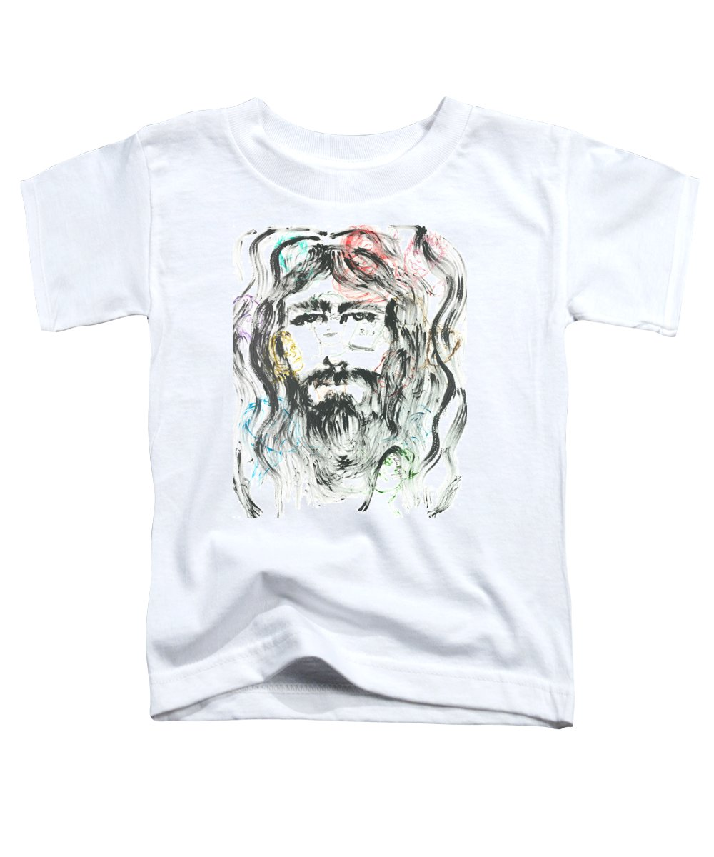 Jesus Toddler T-Shirt featuring the painting The Emotions Of Jesus by Nadine Rippelmeyer