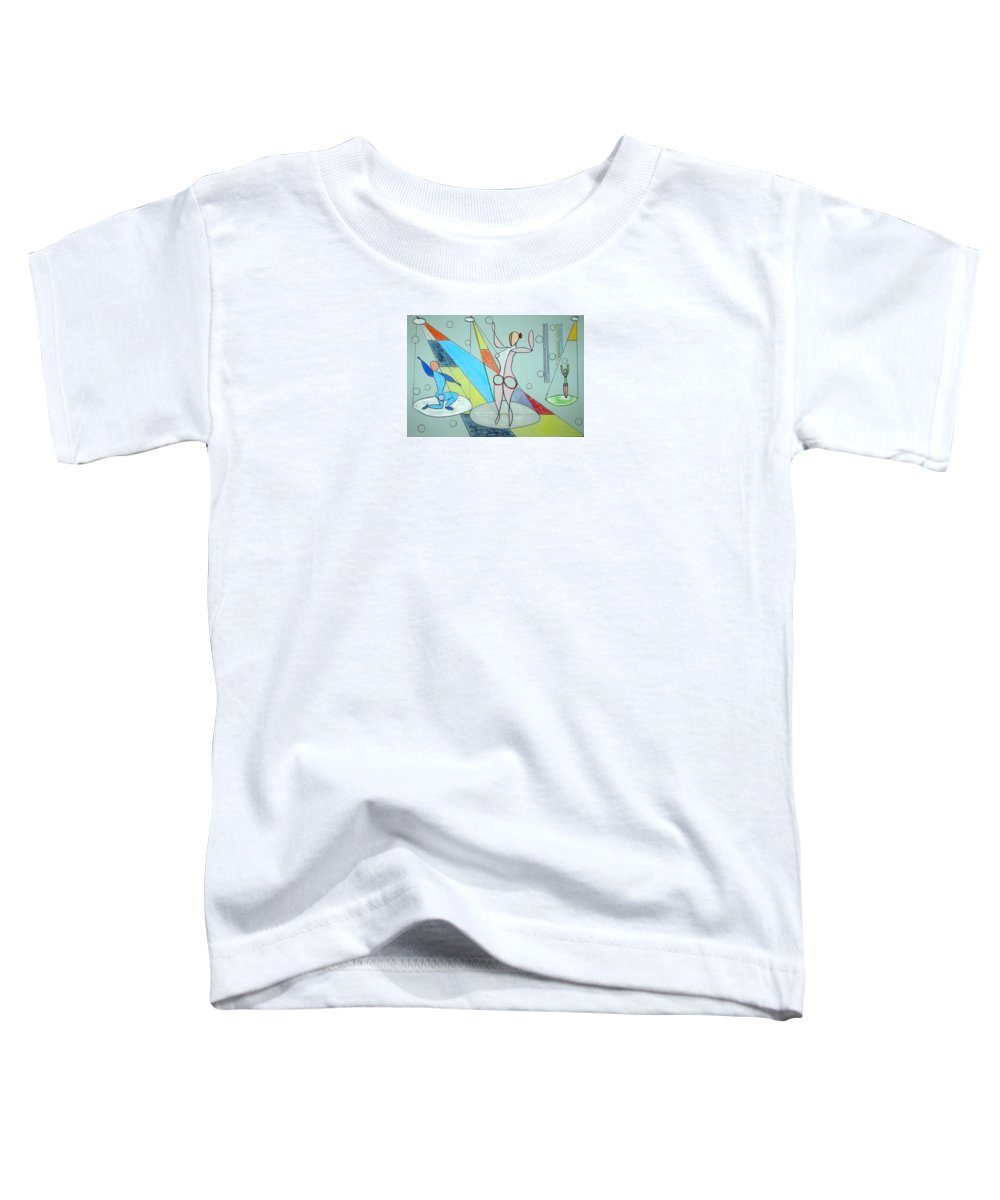Juggling Toddler T-Shirt featuring the drawing The Jugglers by J R Seymour