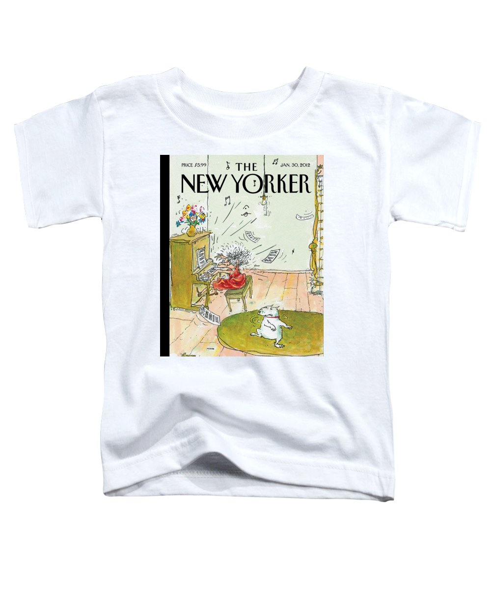 Woman Toddler T-Shirt featuring the painting Winter Blues by George Booth