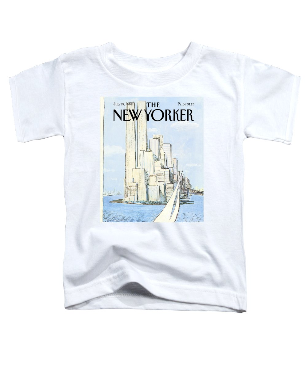 Regional Toddler T-Shirt featuring the painting New Yorker July 19th, 1982 by Arthur Getz