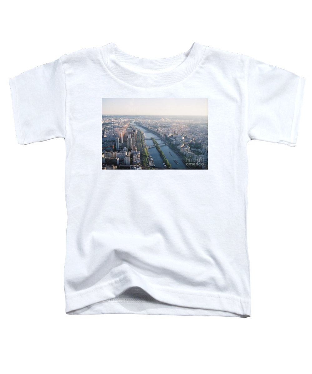 City Toddler T-Shirt featuring the photograph The Seine River In Paris by Nadine Rippelmeyer