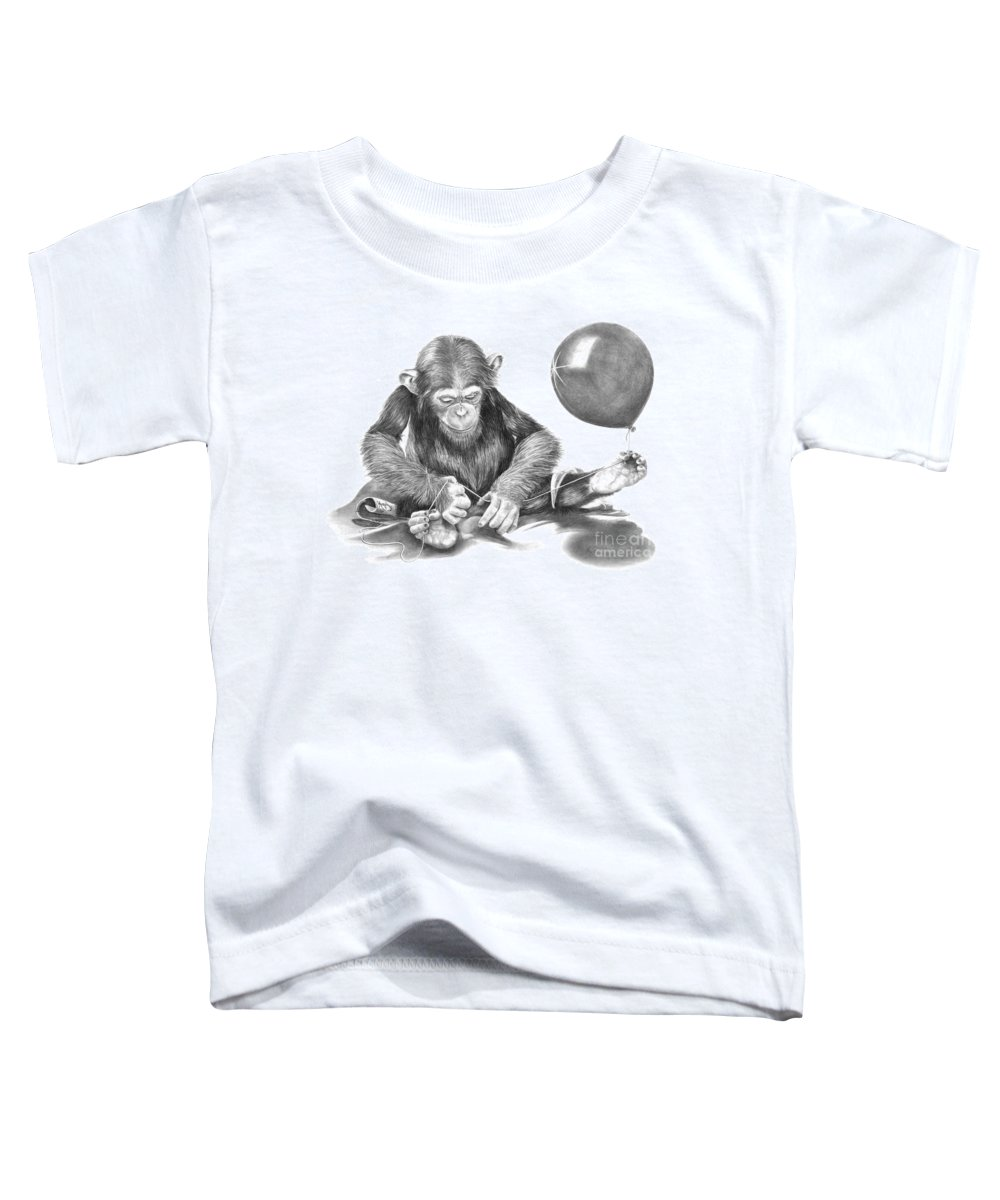 Pencil Toddler T-Shirt featuring the drawing The String Theory by Murphy Elliott