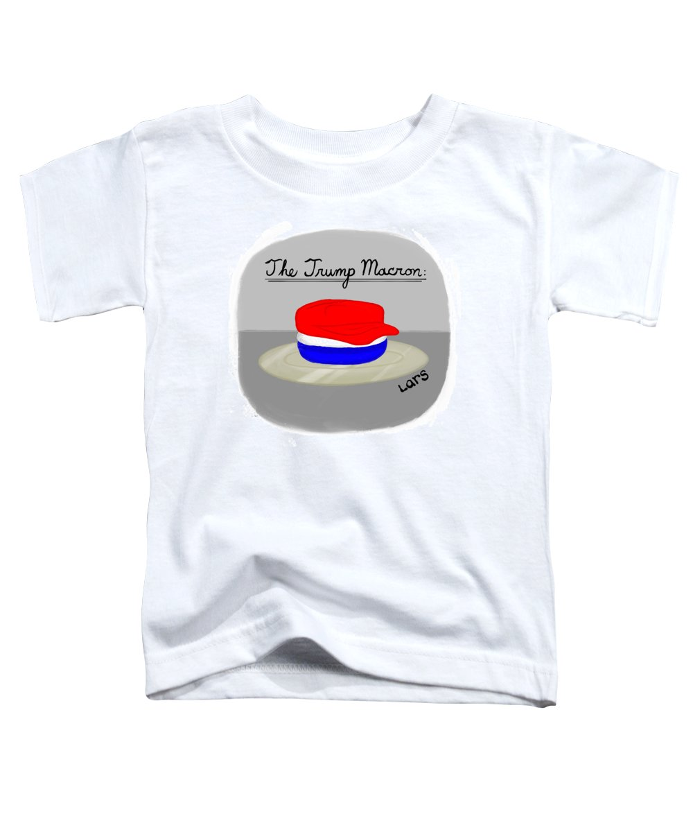 The Trump Macron Toddler T-Shirt featuring the painting The Trump Macron by Lars Kenseth