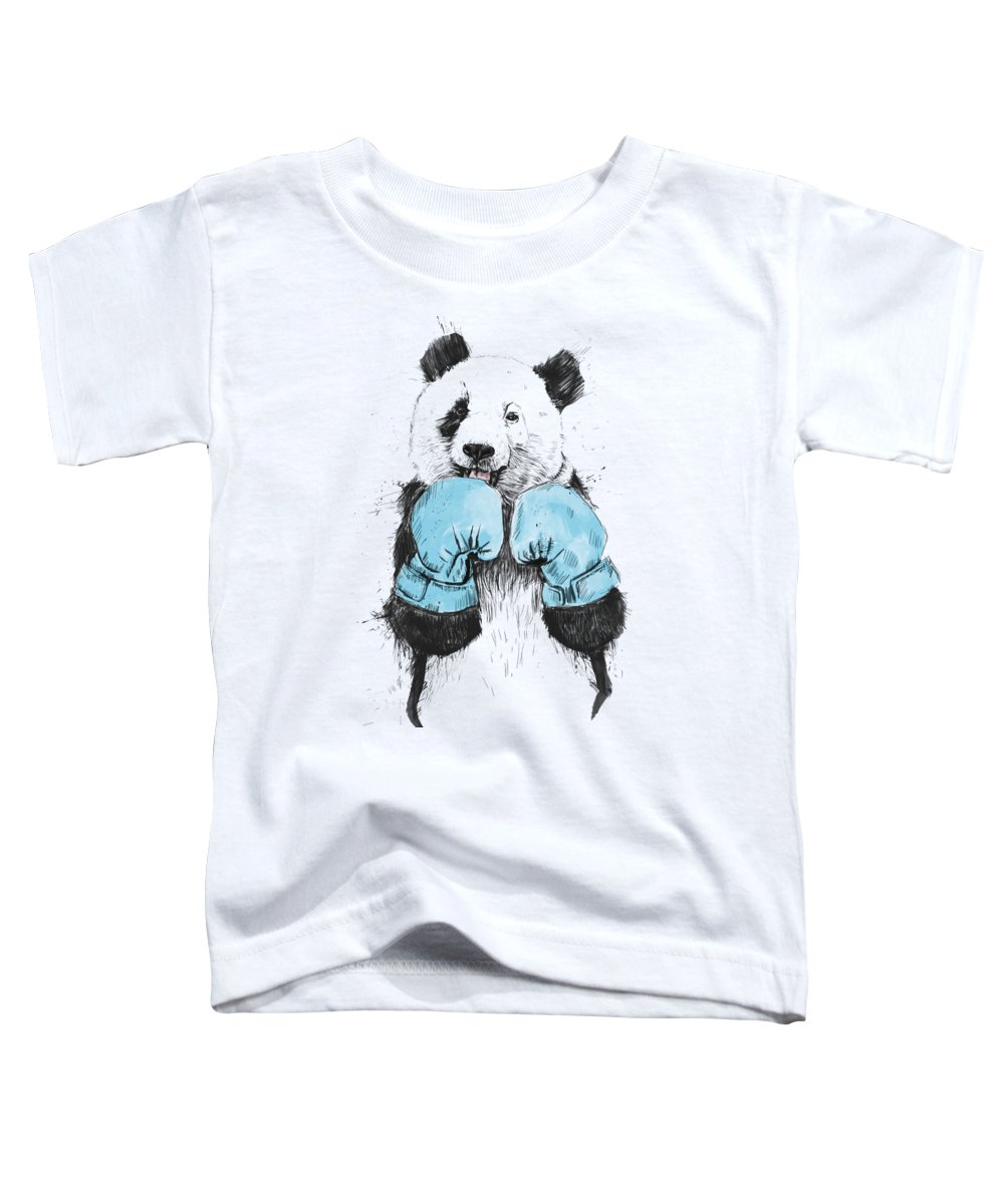 Panda Toddler T-Shirt featuring the digital art The Winner by Balazs Solti