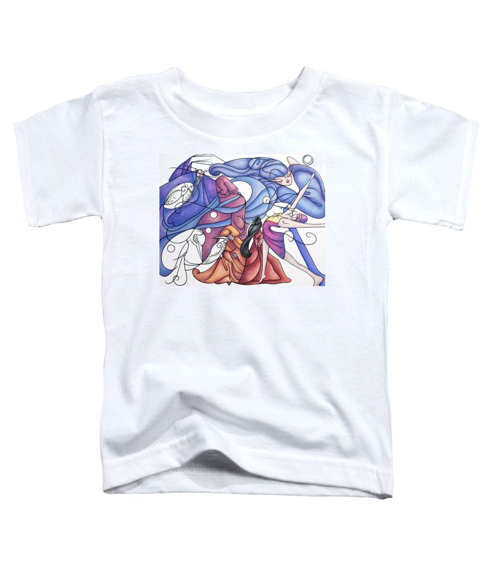 Wizard Toddler T-Shirt featuring the painting The Wizards Daughter by Judy Henninger