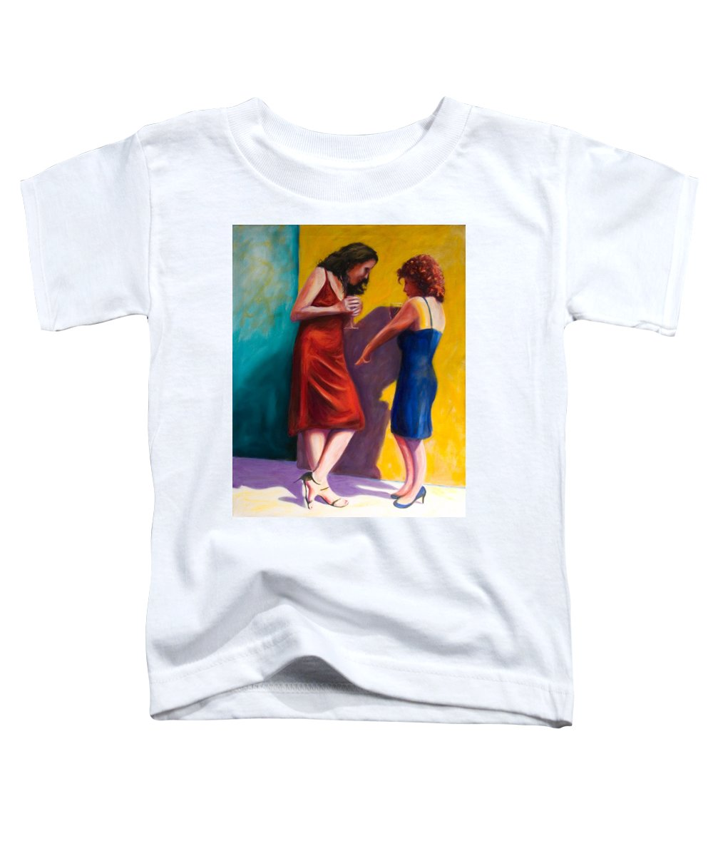 Figurative Toddler T-Shirt featuring the painting There by Shannon Grissom