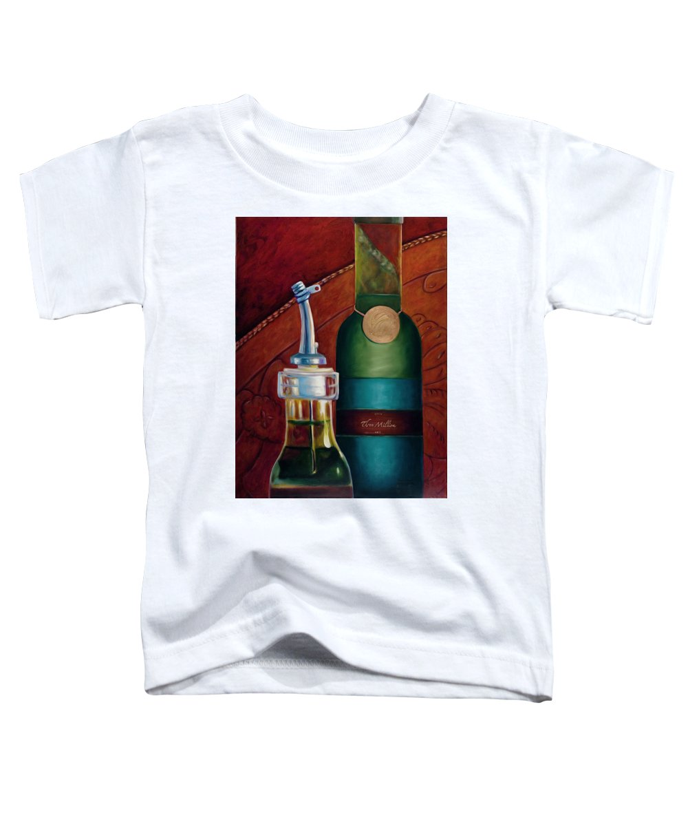 Olive Oil Toddler T-Shirt featuring the painting Three Million Net by Shannon Grissom