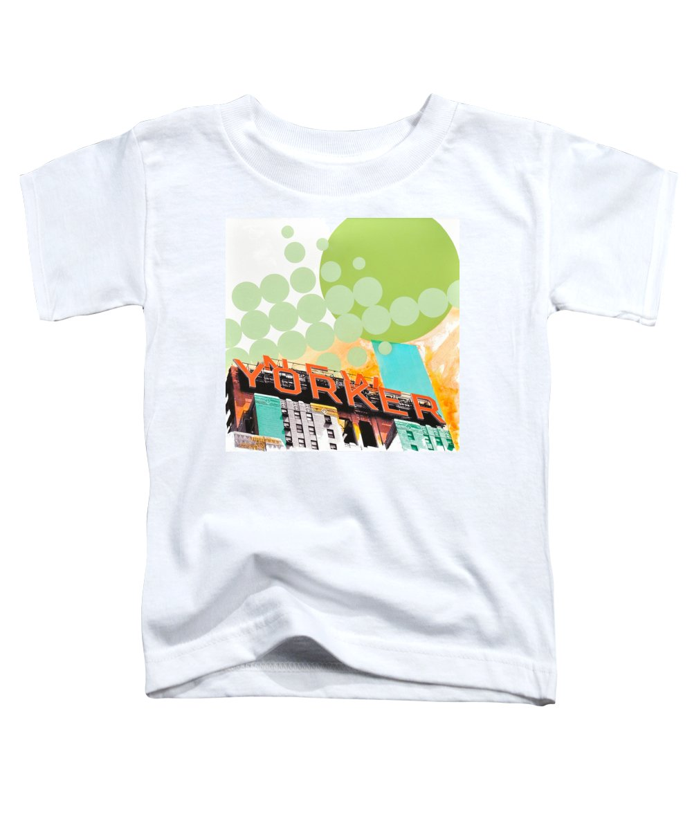 Ny Toddler T-Shirt featuring the painting Times Square New Yorker by Jean Pierre Rousselet