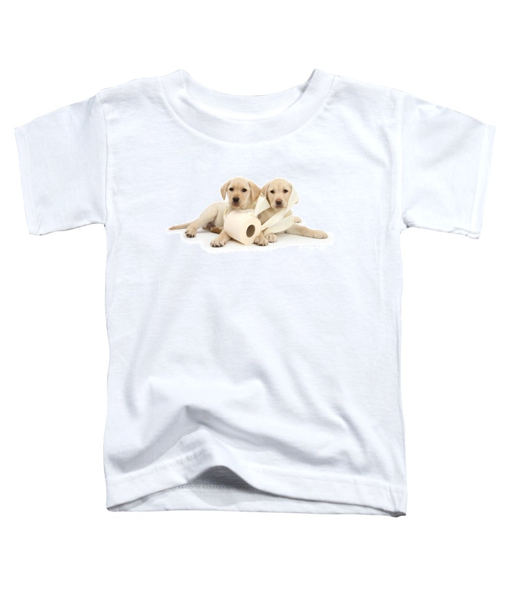 Labrador Retriever Toddler T-Shirt featuring the photograph Toilet Humour by Warren Photographic
