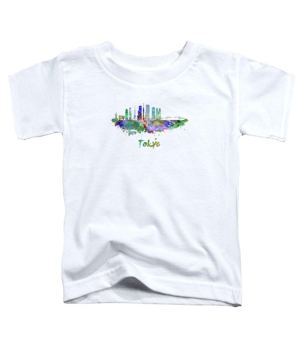 Tokyo Skyline Toddler T-Shirts