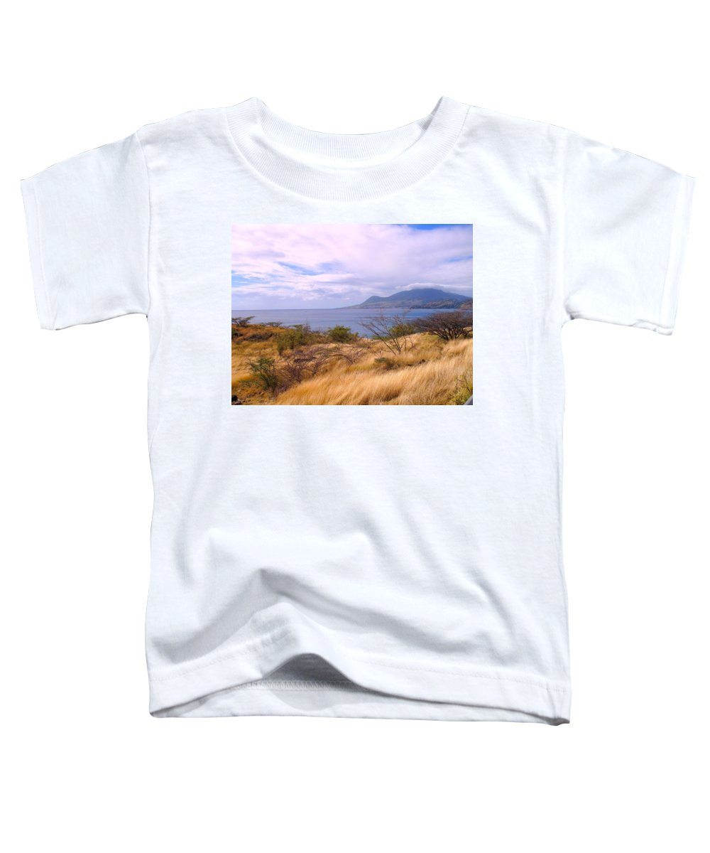 St Kitts Toddler T-Shirt featuring the photograph Towards Basseterre by Ian MacDonald