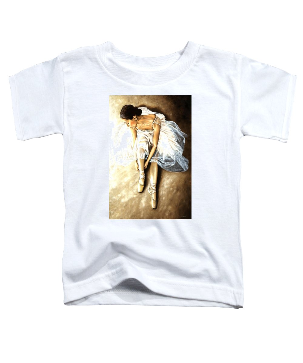 Ballet Toddler T-Shirt featuring the painting Tranquil Preparation by Richard Young