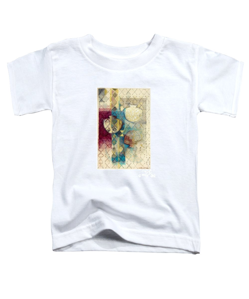 Mixed-media Toddler T-Shirt featuring the painting Trans Xs No 1 by Kerryn Madsen- Pietsch
