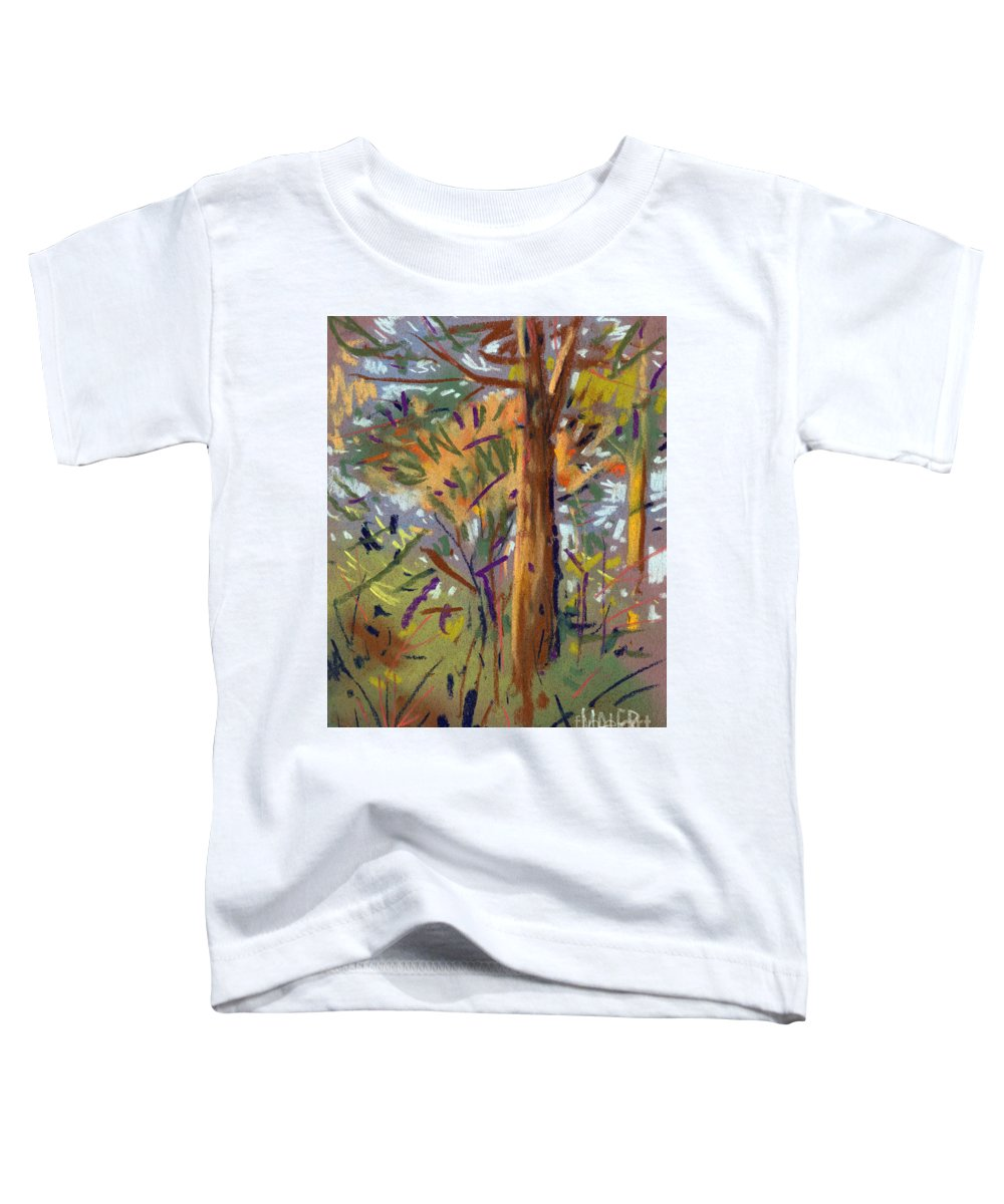 Trees Toddler T-Shirt featuring the drawing Tree Sketch by Donald Maier