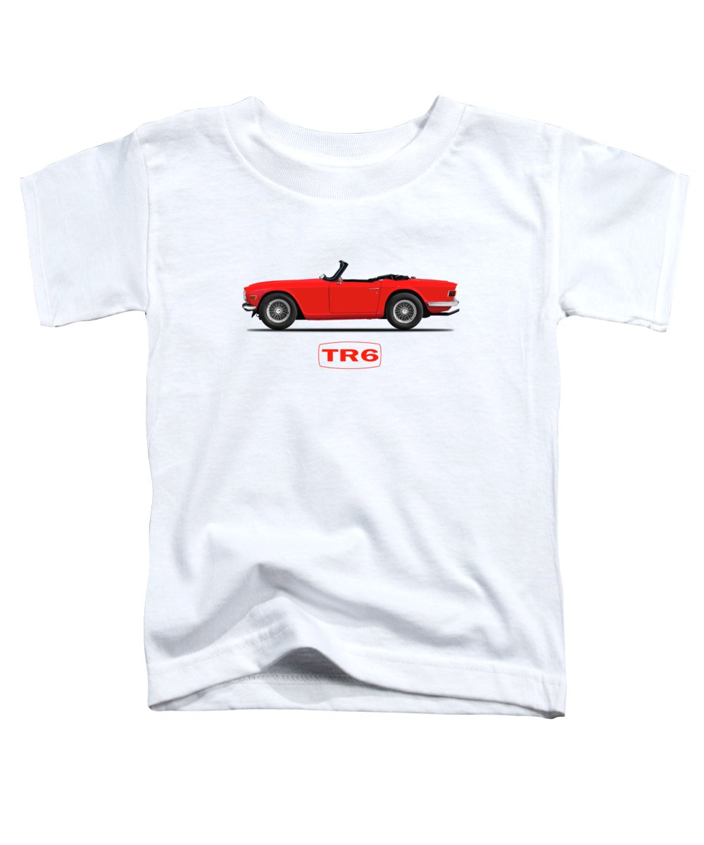 Triumph Tr6 Toddler T-Shirt featuring the photograph Triumph Tr6 by Mark Rogan