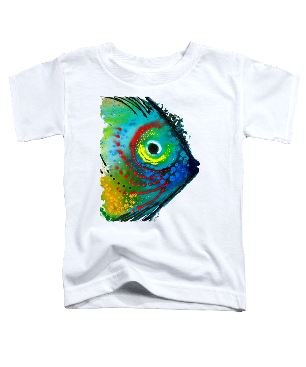 Sharon Cummings Toddler T-Shirt featuring the painting Tropical Fish - Art By Sharon Cummings by Sharon Cummings