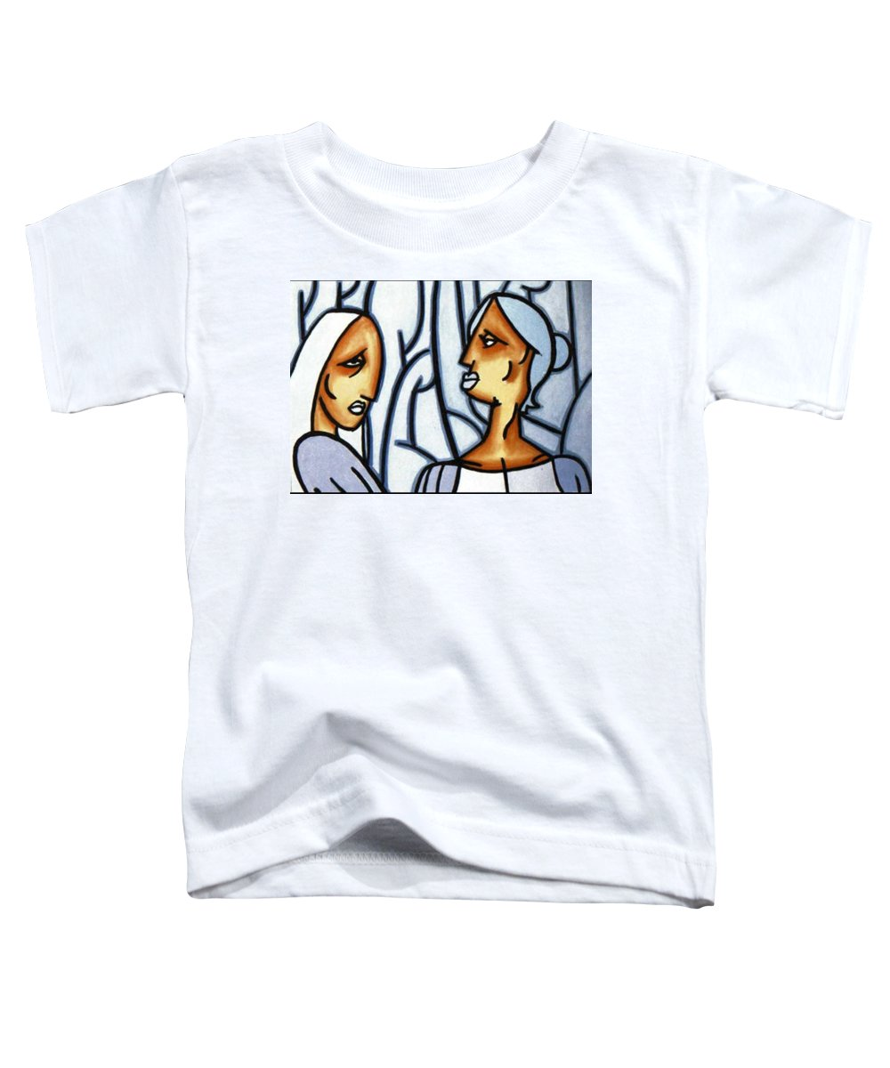 Portrait Toddler T-Shirt featuring the painting Two Ladies by Thomas Valentine