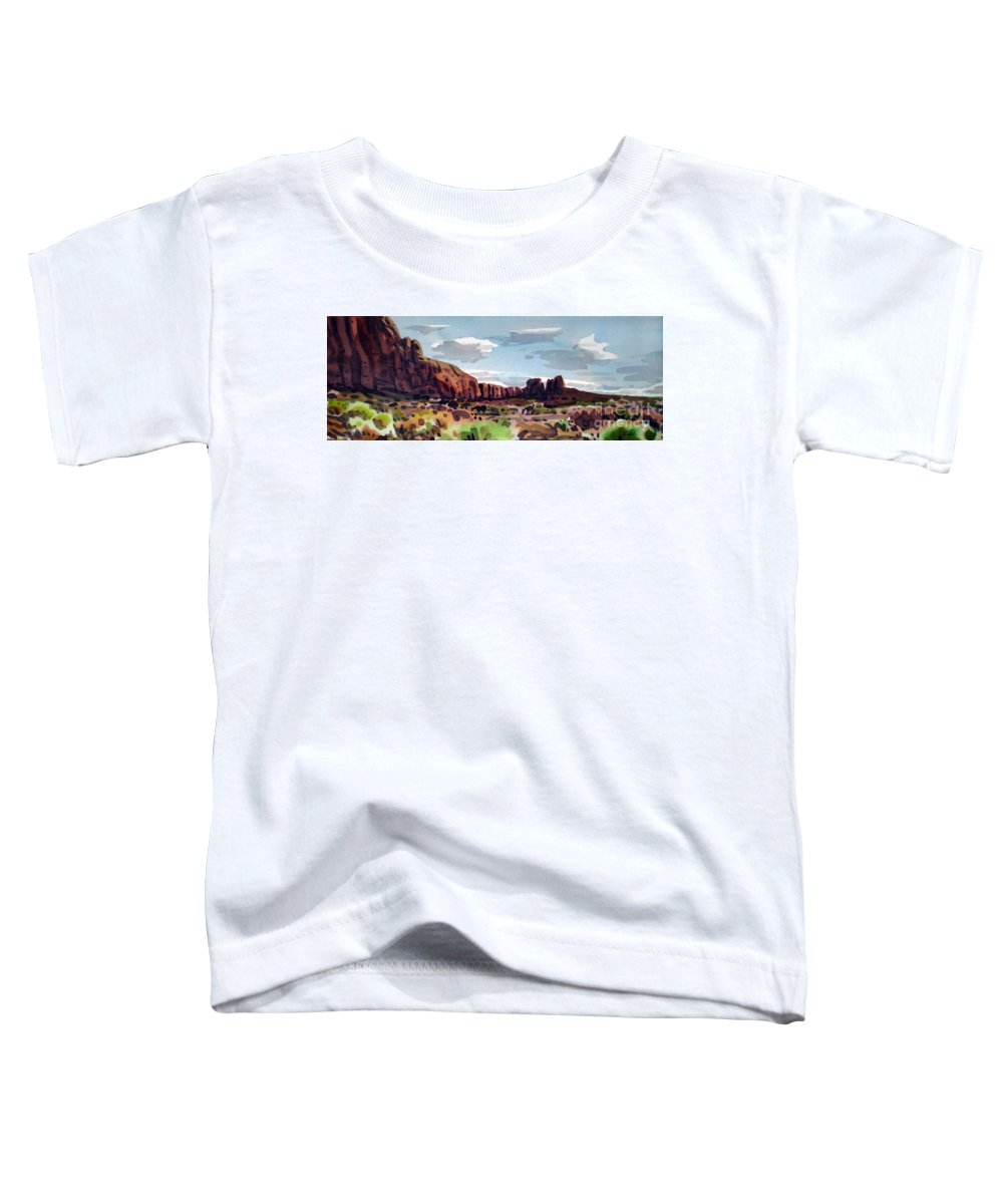 Horses Toddler T-Shirt featuring the painting Two Mustangs by Donald Maier